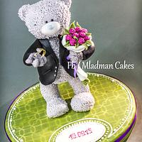 One original and sweet marriage proposal... Teddy Bear Cake Top
