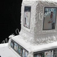 Filmstrip Wedding Cake