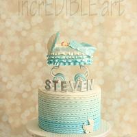 Bassinet on Wheels- Baptism Cake