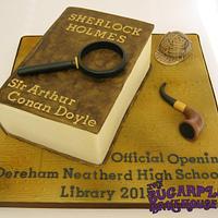 Sherlock Holmes Themed Book Cake