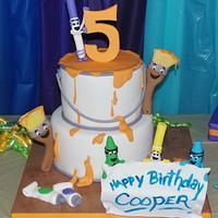 Little Artist Birthday Cake