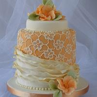 Lace and ruffles cake