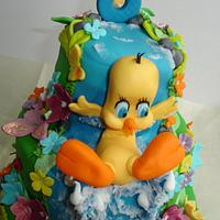 Tweety Titty cake