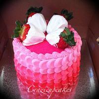 valentines petal cake by Megan Cazarez