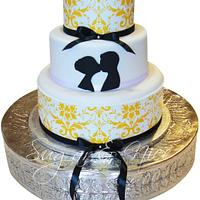 Yellow Damask Cake