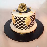 Black-white and gold