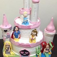 4th & 5th Birthday Princesses Castle Cake