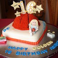 Sweet 16 Golden Birthday Cake