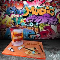 Graffiti Art Cake