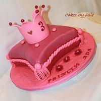 Princess Pillow cake with Tiara