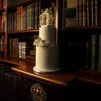 White Gazebo Cake