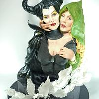 """Maleficent & Aurora"" for Disney Deviant Sugar Art Collaboration"