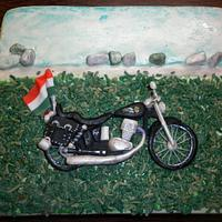 Motorbike cake by marta