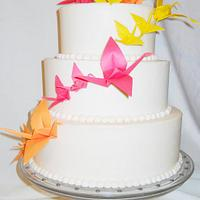 Paper Origami 3 Tier Wedding cake