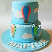 Hot air balloon Christening cake