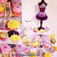 Bright Rose Jewellery Cupcakes
