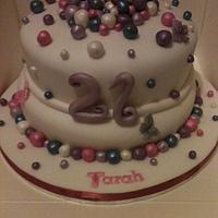 Lustre Ball cake