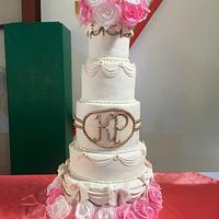 5-tier Quinceanera cake
