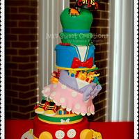 Mickey and Friends Baby Shower Cake
