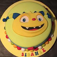 Henry the hugglemonster birthday cake