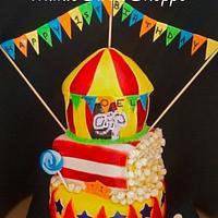 Circus 1st Birthday Cake