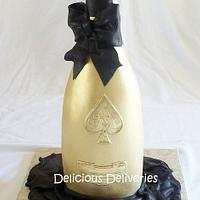 "Armand de Brignac ""Ace of Spades"" Brut Champagne Bottle Cake by DeliciousDeliveries"
