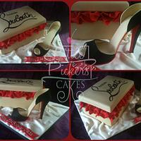 My first shoe and shoe box...it had to be louboutin!