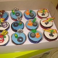 MC QUEEN CARS CAKE AND CUPCAKES by kylieskeyk