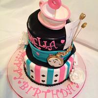 I'm Late - Tea Party - Mad Hatter Birthday Cake