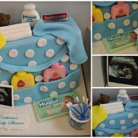 Baby Boys Nappy Bag Cake