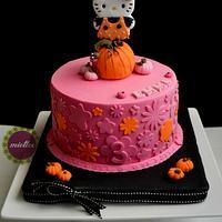 Hello Kitty Halloween-inspired Cake