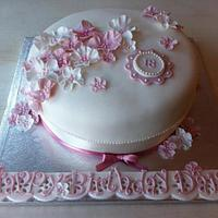 'Elegant Pink' 18th Birthday Cake
