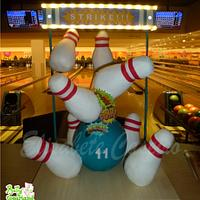 Gravity Defying Bowling Cake with Lights