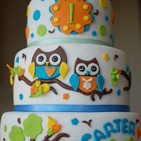 Owl Birthday Cake #2