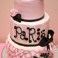 Paris bridal shower cake