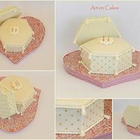 Engagement ring box cake....