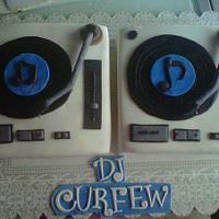 Special cake for a DJ
