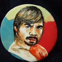 "Portrait Cake: Manny ""Pacman"" Pacquiao"