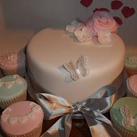 Christening Cake and cupcakes