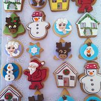 Frozen&Christmas frends forever cookies