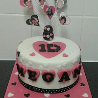 Pretty One Direction Cake