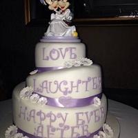 Topsy turvy Micky & Minnie Mouse wedding cake
