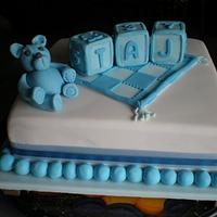 "Christening cake for ""TAJ"" by Sugarart Cakes"