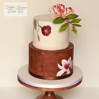 Boho Painted Wedding Cake