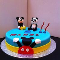 Mickey and Panda