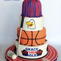 Grace Lutheran Atheltic Banquet Cake by MimisSweetTreats