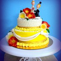 Frangipani Anniversary Cake