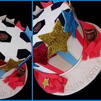 Arsenal Soccer Cake