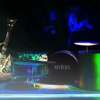 Riviera Rocks - Drum/guitar cake