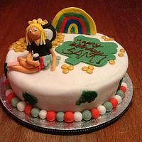 Irish theme Birthday cake